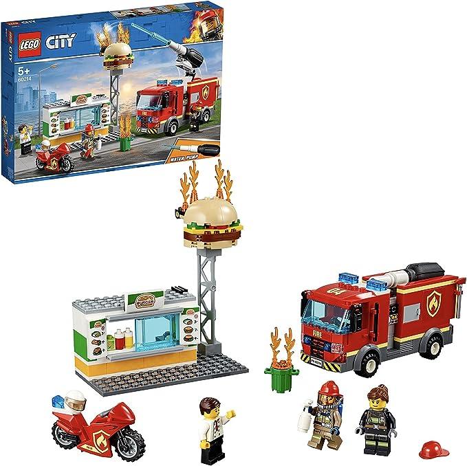 5017 opinioni per LEGO City Fire Fiamme al Burger Bar, Set da Costruzione con Camion e Moto,