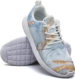 marble print sneakers