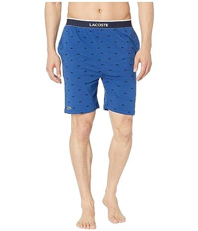 Lacoste Lounge Knit Print Shorts (Limoge) Men