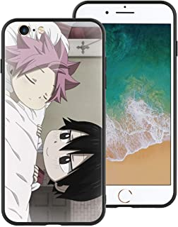 for iPhone6, Manga-Animation-Fairy-Tail 110 Design Tempered Glass Phone Case, Anti-Scratch Soft Silicone Bumper Ultra-Thin iPhone6 Cover for Teens and Adults
