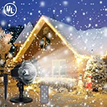 Christmas Snowfall Projector Light, TOFU LED Snow Projector Outdoor Holiday Lights IP65 Waterproof with Remote Control Dynamic Falling Snow Effect for Garden, Party, Halloween Landscape Decoration