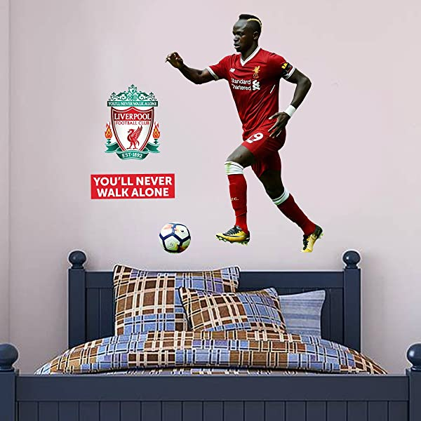 Official Liverpool FC Sadio Mane Player Decal LFC Wall Sticker Set Print Mural Vinyl 120cm Height