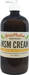 MSM Cream, Fragrance Free, 32-oz bottle with bonus 1.8-oz jar