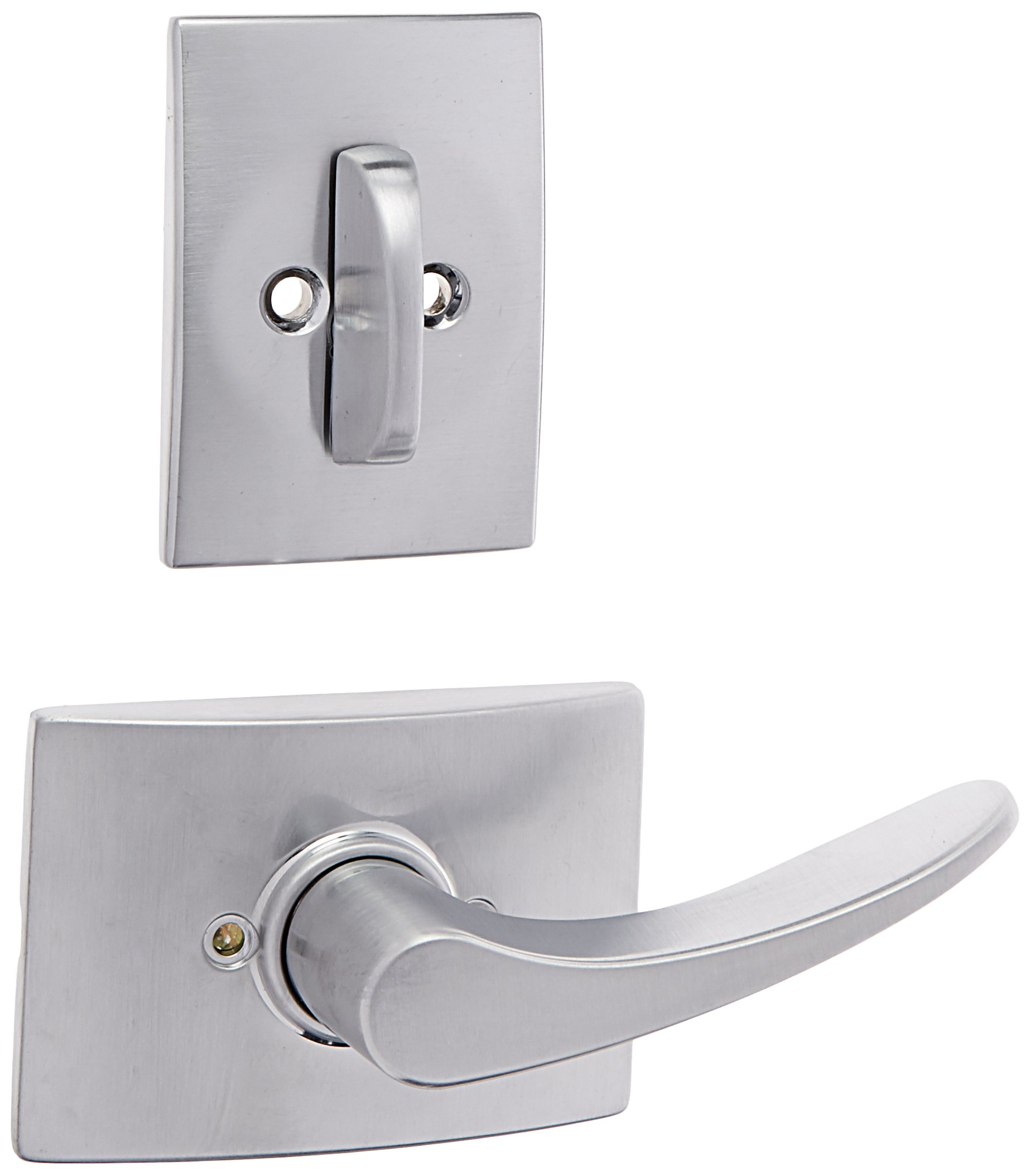 Schlage Lock Company F59-MNH-CEN-RH Manhattan Right Handed Interior Pack Lever Set with Single Satin Nickel