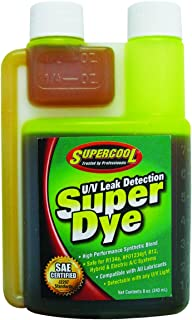 TSI Supercool 22816 Yellow SAE Certified Super Dye, 8 oz (Treats 32-Vehicles - Self Measure Bottle)