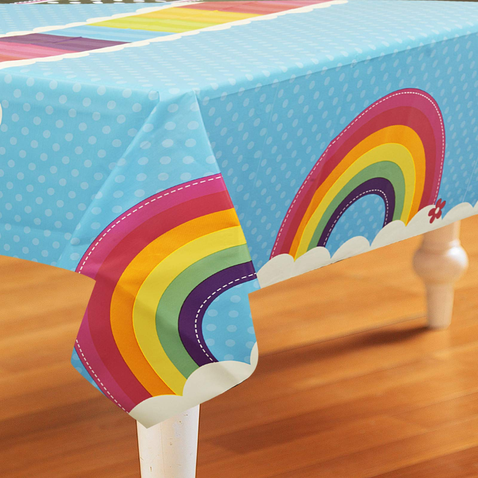 Birthday Express LYSB00BPWWW3U ELECTRNCS Rainbow Tablecover