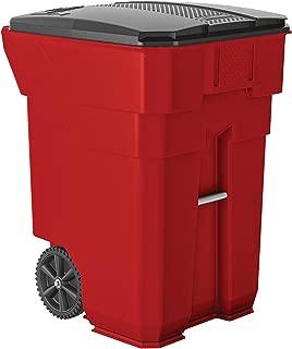 Suncast Commercial BMTCW96R Wheeled Trash Can, 43.75