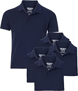 Youth School Uniform Pack of 5 Double Pique Polo Sport Shirts
