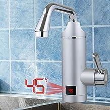 Elektrische waterkraan, 3000 W 220 V, directe elektrische waterkraan, spoeltafel, doorstroomverwarmer, armatuur, 360 grade...
