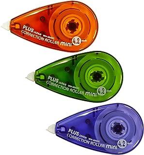 PLUS Japan, Korrekturroller Mini, 3er Packung, Farbenmix, 6m