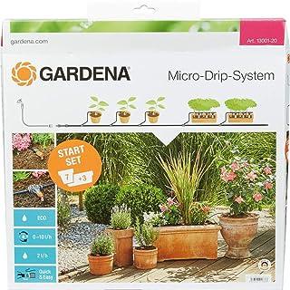 Gardena Start Set Pflanztöpfe M: Praktisches Micro-Drip-System Starterset für 7..