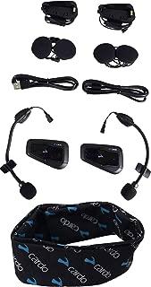 Cardo Scala Rider Packtalk Bold Packtalk Slim Freecom Bluetooth Helmet Communication Headset with Cardo Logo Neck Gaiter (FREECOM 2+ DUO)