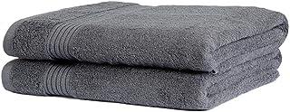 Sasma Home - 2 x duże ręczniki kąpielowe 90 x 150 cm - prześcieradła kąpielowe premium egipskiej bawełny - 100% naturalna ...