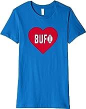 Womens Cute I Love Buffalo Football Heart BUF Premium T-Shirt
