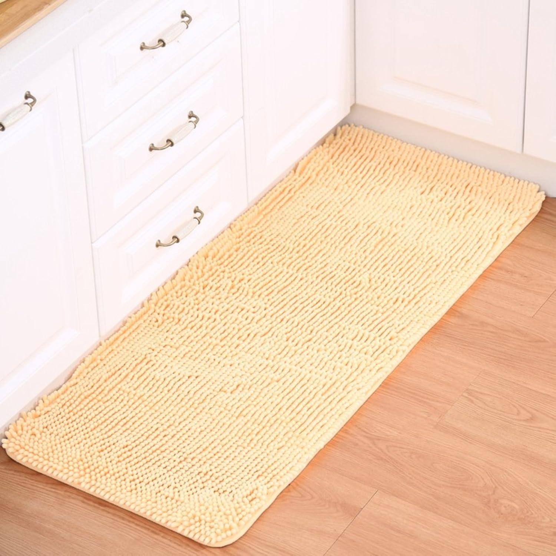 Chenille mat Floor mats Water-Absorption Bathroom Anti-Slip mat Doormat Foot Pad Indoor mats Restroom Kitchen mats-A 70x140cm(28x55inch)