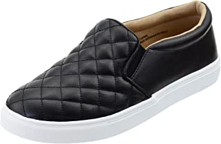 Womens Shoes Slip-on Fashion Sneakers Round Toe Comfort Walking Shoes