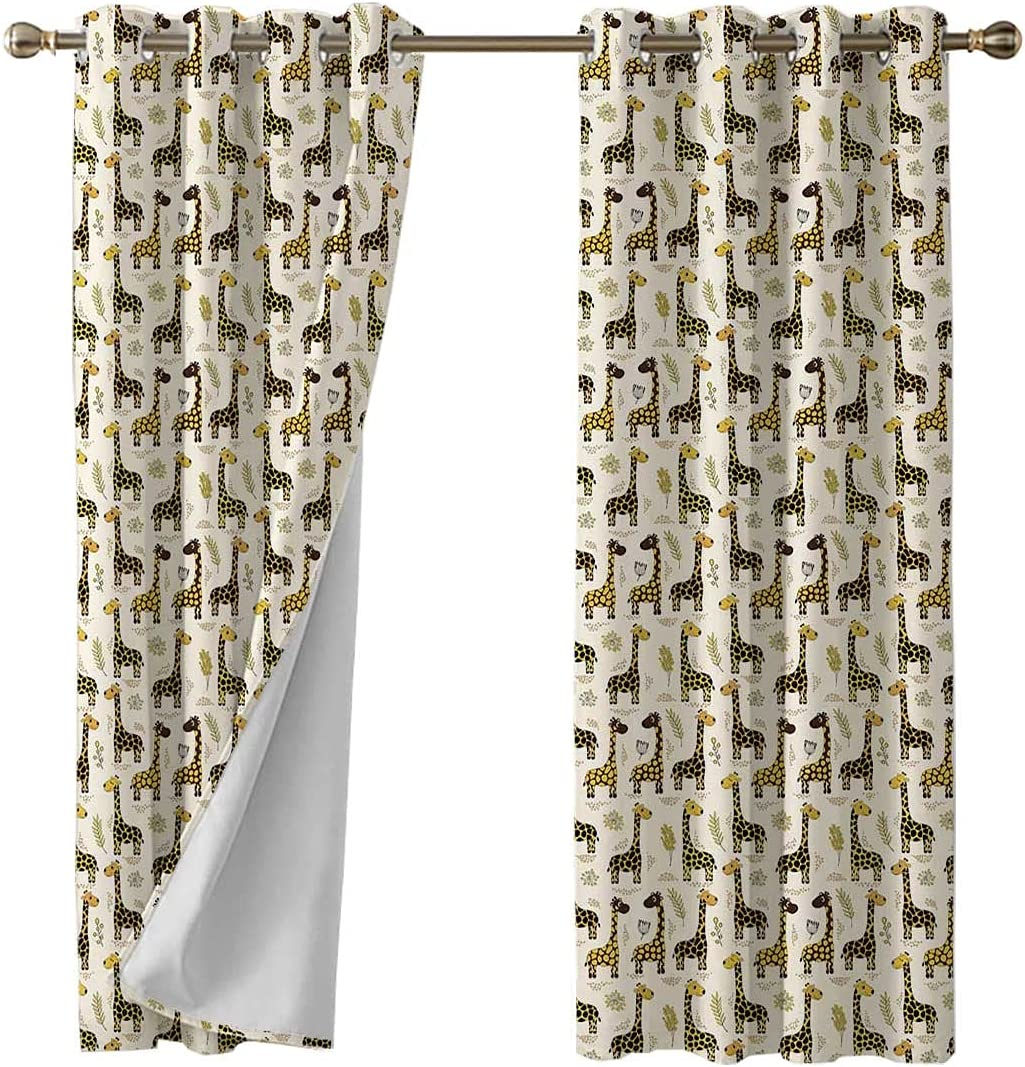 Blackout Curtain Grommet Drape for Living 2 and Room Bedroom Pan Attention brand Seasonal Wrap Introduction