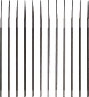 BIlinli Kit de afilador de Motosierra, Paquete de 12, Juego de limas de Motosierra de 3/16 Pulgadas (4,8 mm), limas manuales de afilador de Hojas de Sierra de Cadena