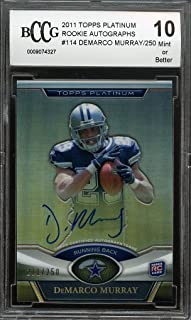 2011 topps platinum rookie autographs #114 DEMARCO MURRAY cowboys rc BGS BCCG 10 Graded Card