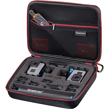 Smatree Case pour GoPro Hero 2018/7/6/5/4/3,OSMO Action appareils et d'accessoires-Étui Grande Taille avec Prédécoupée Mousse EVA pour 2 Caméras GoPro et Accessoires (26.92x 21.08 x 7.11cm)