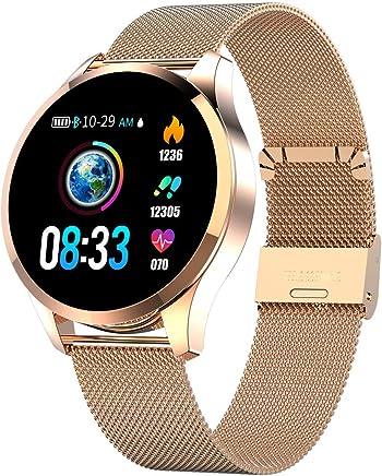 250da85f0 Smartwatch Mujer Hombre, Impermeable Reloj Inteligente Elegante Monitores  de Actividad Impermeable IP67 con Monitor de