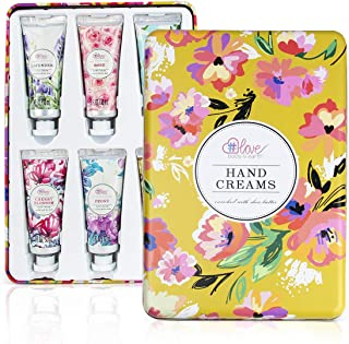 Hand Lotion Set - Pack of 6 Hand Cream Enriched with Shea Butter and Glycerin to Nourish and Deeply moisturize Rough Hands...