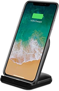 RNDs Fast Wireless Charging Stand for Apple iPhone (11, 11 Pro, 11 Pro Max, XS, XS Max, XR, X,8, 8 Plus) (AC Adapter NOT Included) (Black)