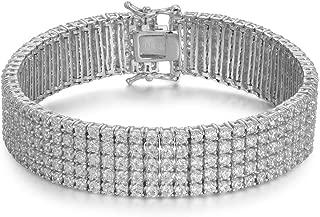 Women's 5 Row 2mm Round Cubic Zirconia Tennis Bracelet