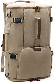 G-FAVOR 40L Travel Backpack,Vintage Canvas Rucksack Convertible Duffel Bag Flight Approved Luggage Carry Fit for 17 Inch L...