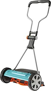 GARDENA Comfort reel mower 400 C: Hand lawn mower with 40 cm working width of up to 250 m² lawn blade roll made of quality...