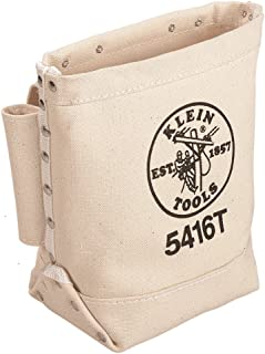 Klein Tools 5416T Tool Bag, Bull-Pin and Bolt Pouch, No. 4 Canvas with Tunnel Connection, 5 x 10...