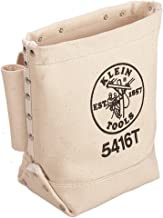 Canvas Tool Bag, Small Bag for Bolt Storage with Bull Pin Loops, Belt Tunnel Loop Connection Klein Tools 5416T