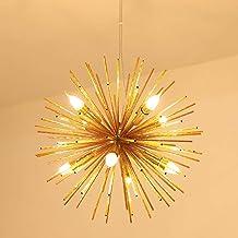 Ganeed LED Firework Chandelier, Modern Ceiling Chandeliers Stanless Steel Pendant Light Fixutres, Rose Gold Hanging Pendan...