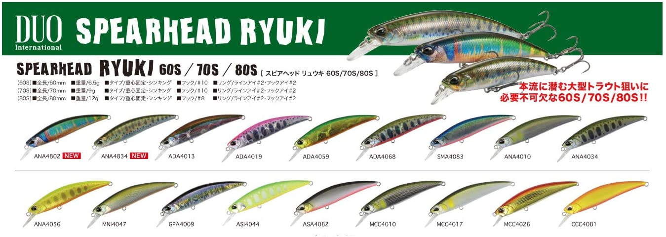1625 Details about  /Duo Spearhead Ryuki 60S Sinking Lure MCC4017