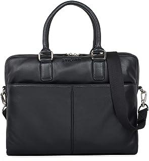 """STILORD Emilio"""" Umhängetasche Leder Vintage groß Schultertasche Elegante Handtasche für Büro Business Arbeit Laptop 13.3 Zoll Aktentasche DIN A4"""