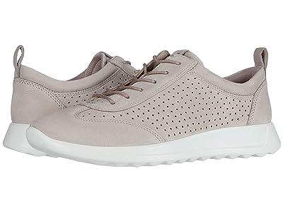 ECCO Flexure Runner Perf Sneaker (Grey Rose Cow Nubuck) Women