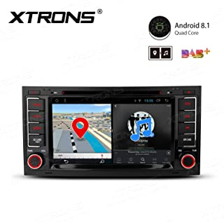 XTRONS 7 Inch Android 8.1 Car Stereo Radio GPS Navigator with Bluetooth 5.0 USB SD DVD Drive Supports Backup Camera DVR Full RCA SWC 4G 3G for VW Touareg 2004-2011