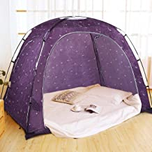 Goplus Bed Tent, Indoor Privacy Play Tent for Warm and Cozy Sleep in Drafty Rooms, Portable Bed Canopy with Carry Bag for ...