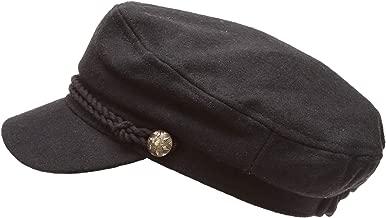 MIRMARU Women's Classic Mariner Style Greek Fisherman's Sailor Newsboy Hats with Comfort Elastic Back