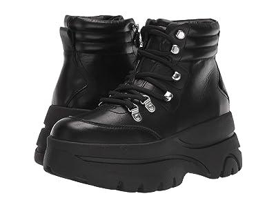 Steve Madden Husky Boot (Black Leather) Women