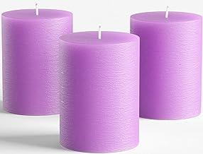 Amazon Co Uk Purple Pillar Candles
