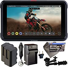 """Atomos Ninja V 5"""" Touchscreen Recording Monitor 10bit HDR with 2X NP-F750 Batteries, Charger, 7"""" Magic Arm + Cleaning Clot..."""