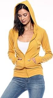 Women's Casual Lightweight Thermal Zip Up Hoodies