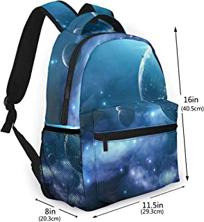 School Bag Beautiful Blue Earth Sports Backpack Perfect For School College Work Commute Weekend Getaway Casual Travel