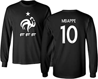 France 2018 National Soccer #10 Kylian MBAPPE World Championship Men's Long Sleeve T-Shirt