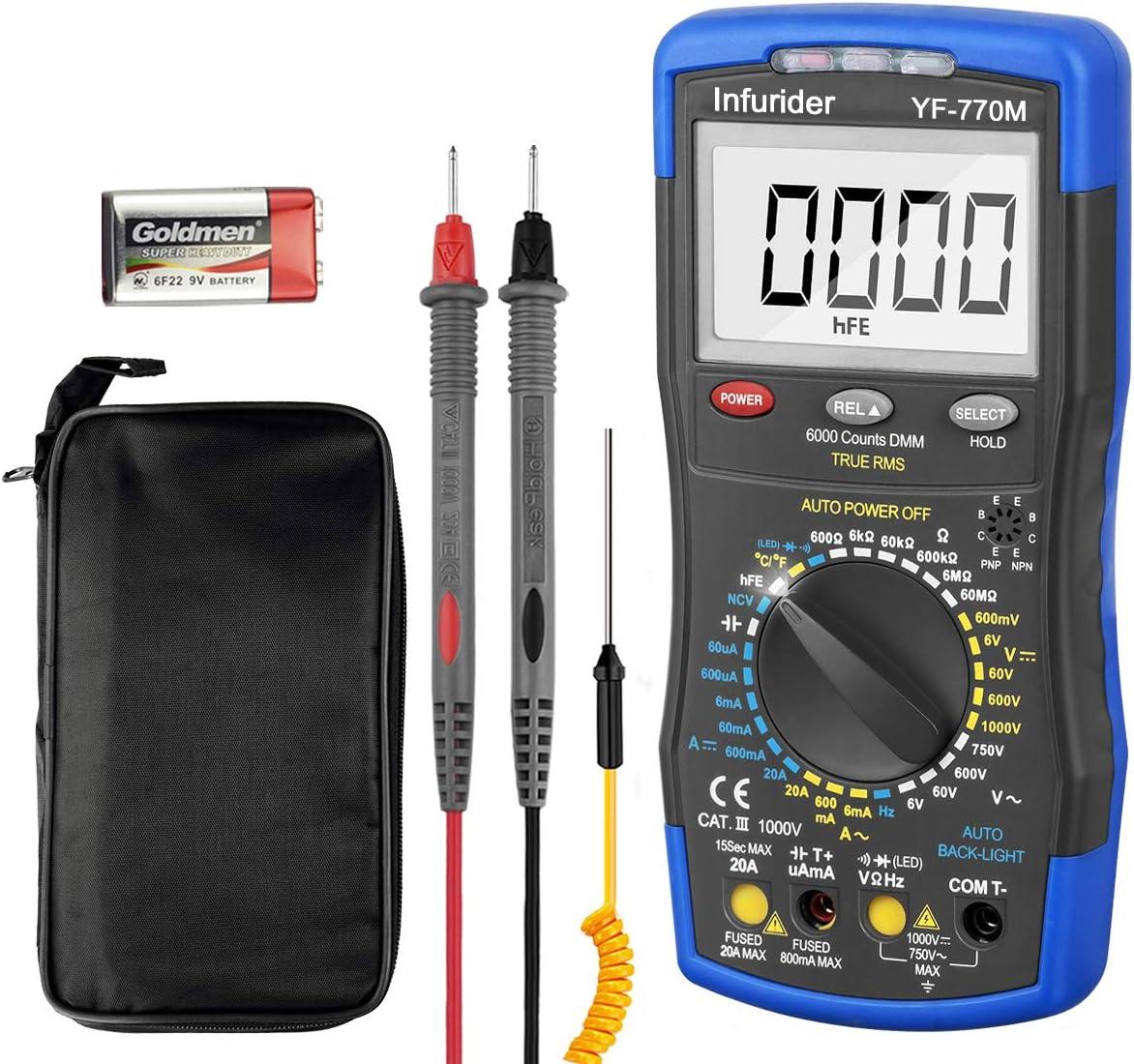 Digital Multimeter Infurider YF-770M 6000 and Sales Manual 70% OFF Outlet Counts Manu