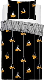 Looney Tunes Graphic Daffy Duck Duvet Cover Set (Twin) (Black)