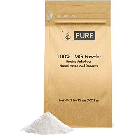 Pure Trimethylglycine (Betaine Anhydrous) TMG Powder (2 lbs) Vegan & Gluten-Free, Supports a Healthy Metabolism