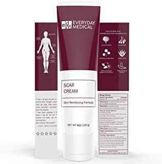 Everyday Medical Surgical Scar Removal Cream for Skin, Face & Body - Advanced Scar Repair Treatment for New and Old Scars, Burns, Cuts, Acne, Stretch Marks - Natural Herbal Ingredients - 4 OZ