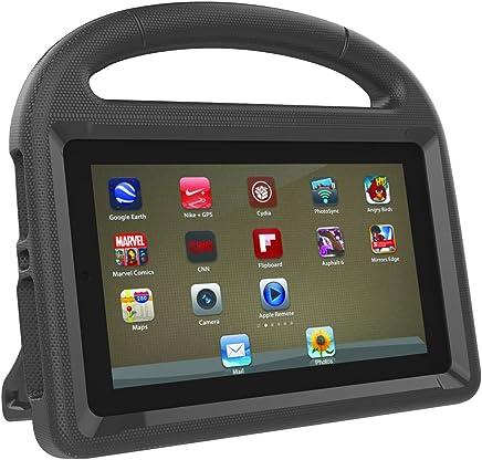LEDMOMO Fire 7 2017 Kids Case, Handle Stand EVA Protective Cover Shock Proof Case for Amazon Kindle Fire 7 Tablet (Black)